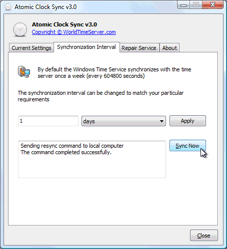 Click to view Atomic Clock Sync screenshots