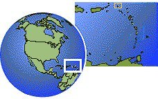 Anguilla  time zone location map borders