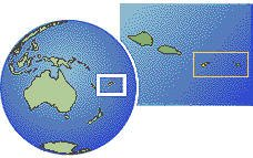 Pago Pago, American Samoa time zone location map borders