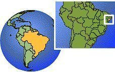 Alagoas, Brazil  time zone location map borders