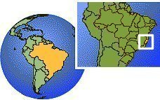 Espirto Santo, Brazil time zone location map borders