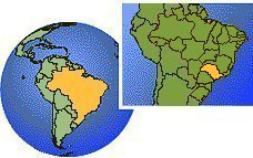 Sao Paulo, Sao Paulo, Brazil time zone location map borders