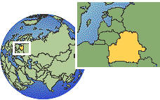 Belarus time zone location map borders