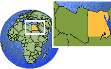 Egypt  time zone location map borders