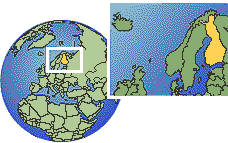 Helsinki, Finland time zone location map borders