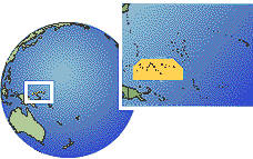 Yap, Chuuk, Micronesia, Federated States Of time zone location map borders