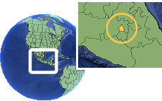 Distrito Federal, Mexico as a marked location on the globe