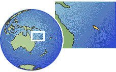 New Caledonia as a marked location on the globe