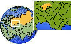 Nizhniy Novgorod, Russia as a marked location on the globe