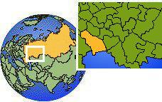 Saratov, Russia  time zone location map borders