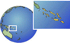 Solomon Islands as a marked location on the globe