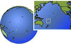 Tuvalu time zone location map borders