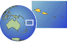 Samoa time zone location map borders