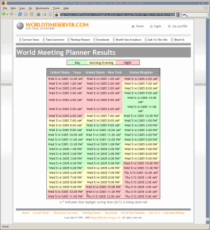 meeting planner results
