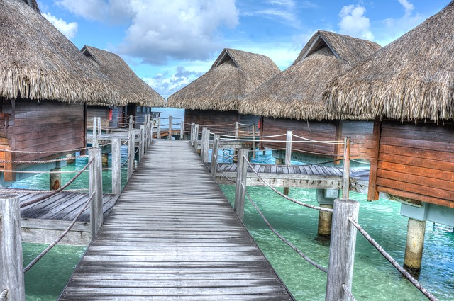 Bora Bora, water bungalows
