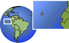 Ecuador - Galapagos Islands as a marked location on the globe