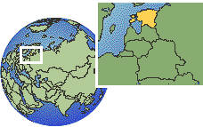 Tallinn, Estonia time zone location map borders