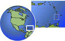 Saint Vincent and The Grenadines time zone location map borders
