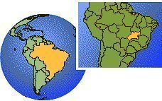 Goias, Brazil time zone location map borders