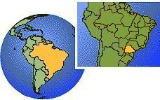 Parana, Brazil time zone location map borders