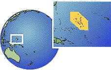 Marshall Islands time zone location map borders
