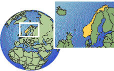 Noruega time zone location map borders