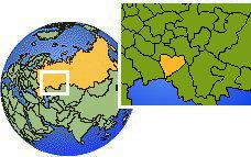 Samara, Rusia time zone location map borders