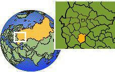 Tambov, Russia time zone location map borders